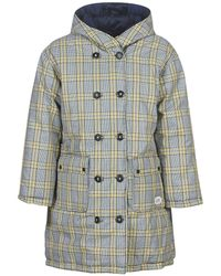 Maison Scotch Donsjas Reversible Double Breasted Jacket In Check And Solid - Blauw