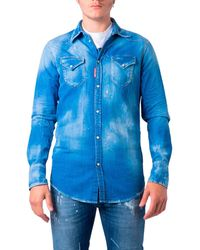 DSquared² Chemise S74DM0301 - Bleu