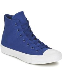 Converse All Star Hi Men s Shoes (high-top Trainers) In Blue in Blue ... b8dd55af5