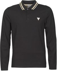 Guess OLIVER LS POLO - Negro