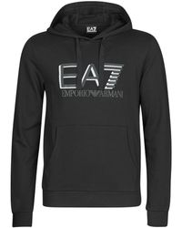 EA7 Sweater Train Visibility M Hoodie Rn Coft - Zwart