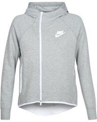 7d67122a1f3f Nike Black Tech Fleece Aeroloft Crew Neck Top in Black - Lyst