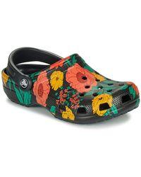 Crocs™ Klompen Classic Printed Floral Clog - Zwart