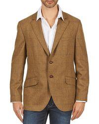 Hackett Blazer Tweed Wpane - Bruin