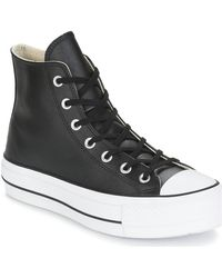 Converse Hoge Sneakers Chuck Taylor All Star Lift Clean Leather Hi - Zwart