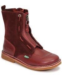 Kickers MEETICKROCK Boots - Rouge