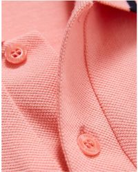 Fred Perry - M2 Single Tipped Polo Shirt Pink Men's Long Sleeved Shirt In Pink - Lyst