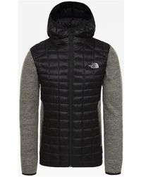 The North Face Tekari Thermoball Hybrid Fleece Jacket - Black
