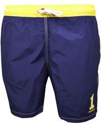 Hackett Short de bain One bleu marine et jaune pour homme hommes Maillots de bain en bleu