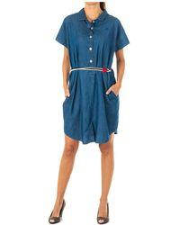 La Martina Vestido Vestido tejano - Azul