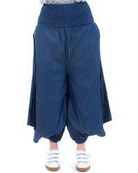 Fantazia Sarouel jupe culotte blue jean denim Jeans - Bleu