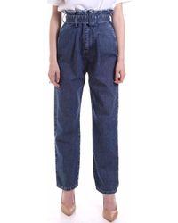 FEDERICA TOSI FTE20PJ098.0VDENIM Jeans boyfriend - Bleu