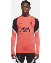 Nike Chaqueta deporte Training top Liverpool FC Strike 2020/21 - Naranja