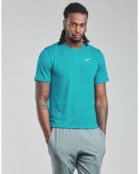 Nike DF MILER TOP SS T-shirt - Bleu