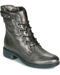Dream in Green - Ervane Women's Mid Boots In Silver - Lyst