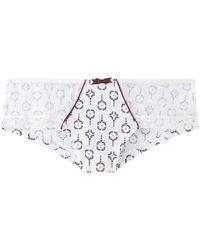 Pommpoire Shorties & boxers Shorty ivoire/bordeaux Aquatik - Blanc