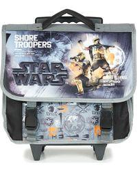 Disney - Star Wars Cartable A Roulettes 38cm Boys's Children's Rucksack In Grey - Lyst