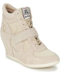 Ash Bowie Women's Shoes (high-top Trainers) In Beige - Natural