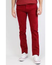 Kebello Jean 5 Poches Taille : H Bordeaux 38 Jeans - Rouge