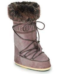 Moon Boot Snowboots Velvet - Paars