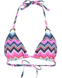 Lascana Bikini Zigzag Zwempak Top - Meerkleurig