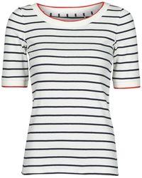 Esprit RAYURES COL ROUGE T-shirt - Blanc