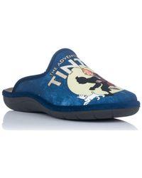 Zapp TINTIN Chaussons - Bleu