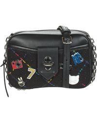 Karl Lagerfeld Schoudertas K/studio Tweed Camera Bag - Zwart