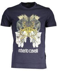 Roberto Cavalli T-shirt GST642 - Bleu