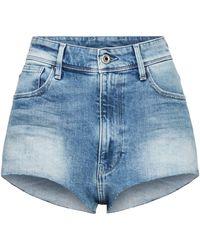 G-Star RAW Kafey Ultra High Hotpants Raw Edge Short - Bleu