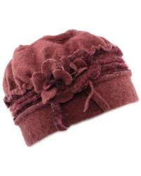 Léon Montane Bonnet Toque femme en laine bouillie en coloris rose - Rouge