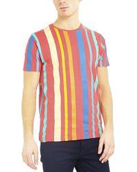 Brave Soul T-shirt Striped - Multicolore