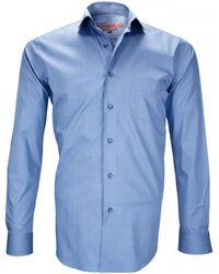 Andrew Mc Allister Chemise chemises double fil 120/2 carnaby bleu