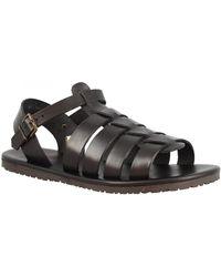 Leonardo Shoes Sandalias M6336 NERO - Negro