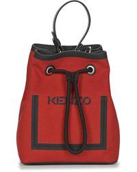 KENZO Kanvas Bucket-tas - Rood