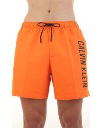 Calvin Klein Zwembroek Km0km00570 - Oranje