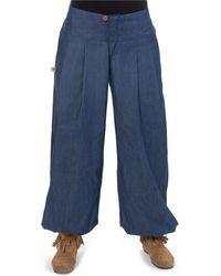 Fantazia Pantalon boule jean droit Rangoon Pantalon - Bleu