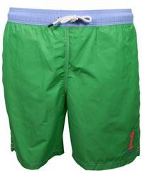 Hackett Short de bain One vert et bleu pour homme hommes Maillots de bain en vert