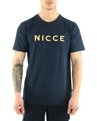 Nicce London T-shirt T-Shirt manches courtes Mercury - Bleu