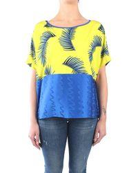 Hanita H.M2102.2811 Foulard Femme Acide / Bleu Pull - Multicolore