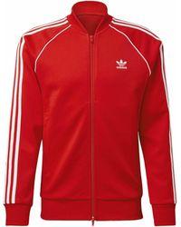 adidas Chaqueta deporte Chaqueta Adicolor Classics Primeblue SST - Rojo