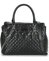 Guess Handtas Queenie Luxury Satchel - Zwart