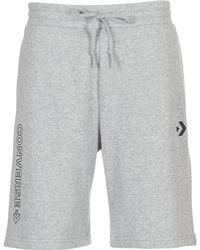 c99db01e5b70 Converse - Star Chevron Graphic Short Men s Shorts In Grey - Lyst