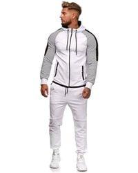 Monsieurmode Survêtement fashion Survêtement 1121 blanc Jogging