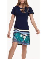 Lisca Robe estivale manches courtes Tahiti Robe - Bleu