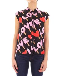 Love Moschino - Chemise WCD1700T9964 Camicie Maniche Corte Femme - Lyst
