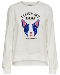 ONLY Sweater Sudadera De Mujer - Wit