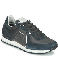 Pepe Jeans Lage Sneakers Tinker City - Blauw