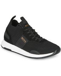 BOSS by Hugo Boss Lage Sneakers Titanium Runn Knst - Zwart