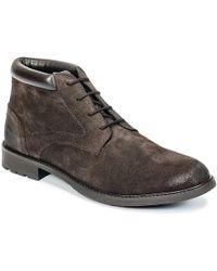 Hush Puppies - Linca Men's Mid Boots In Brown - Lyst